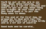 Super Noah's Ark 3-D DOS Story at the beginning of episode 1