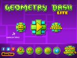 Geometry Dash iPad Title and main menu (demo (Lite) version)