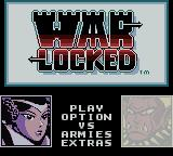 Warlocked Game Boy Color Main menu
