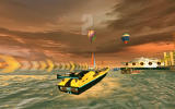 Driver: Speedboat Paradise Android Start for a race at dusk