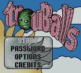 Trouballs Game Boy Color Main menu