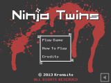 Ninja Twins Windows Main menu