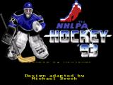 NHLPA Hockey '93 SNES Title Screen