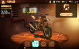 Trials Frontier Android Upgrading the bike in the garage.