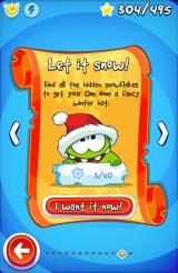 Cut the Rope: Time Travel Android There are snowflakes to collect, some are tricky to get