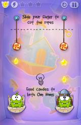 Cut the Rope: Time Travel Android This time you need to feed candies to both Om Noms