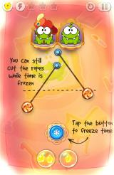 Cut the Rope: Time Travel Android You can freeze time