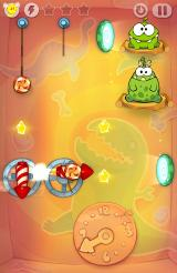 Cut the Rope: Time Travel Android Rockets and portals and clocks in the prehistoric era