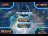 Techno Dash iPad Title and main menu