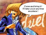 Yu-Gi-Oh! Power of Chaos: Joey the Passion Windows He seems sure of himself...