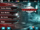 Tekken: Card Tournament iPad Title and main menu