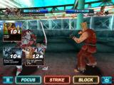 Tekken: Card Tournament iPad Now I have two cards, one concealed.