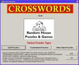 Random House Puzzles & Games: Crosswords Windows The Crossword Puzzle game starts by asking the player which group of puzzles they wish to use