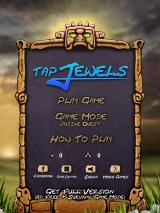 Tap Jewels iPad Title and main menu