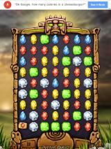Tap Jewels iPad Starting puzzle mode
