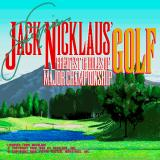 Jack Nicklaus' Greatest 18 Holes of Major Championship Golf Sharp X68000 Title screen