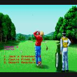 Jack Nicklaus' Greatest 18 Holes of Major Championship Golf Sharp X68000 Course selection