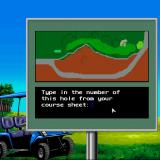 Jack Nicklaus' Greatest 18 Holes of Major Championship Golf Sharp X68000 The X68000 version also has copy protection, you have to look up a hole number from the course sheet