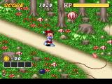 Kid Klown in Crazy Chase SNES Level 1 Start