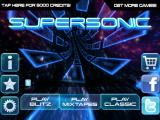 Supersonic iPad Title and main menu