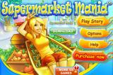 Supermarket Mania iPhone Title and main menu
