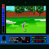 Jack Nicklaus presents The International Course Disk Sharp X68000 Female player putting