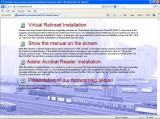 Virtual Railroad Windows The CD auto loads with this browser window which explains the change of name