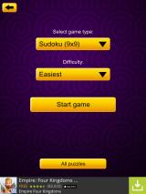 Sudoku Epic iPad Set your board size and select your difficulty