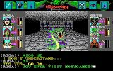 Wizardry: Bane of the Cosmic Forge DOS Dialogue with a cool friendly snake. You can type whatever you want. It looks like we are having a great conversation!