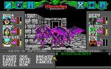 Wizardry: Bane of the Cosmic Forge DOS Impressive nightgaunts attack in Dwarven Mines