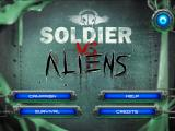 Soldier Vs Aliens iPad Title and main menu