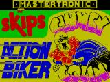 Action Biker ZX Spectrum Title screen