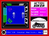 Action Biker ZX Spectrum Found Martin