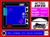 Action Biker ZX Spectrum No item in this house