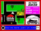 Action Biker ZX Spectrum Task completed
