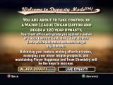 MVP Baseball 2004 Xbox Dynasty is basically Career mode, but more in-depth then other games.