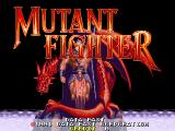 Mutant Fighter Arcade Title screen