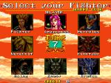 Mutant Fighter Arcade Select your fighter