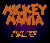 Mickey Mania SNES Title Screen