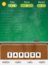 Anagram Academy iPad The first puzzle