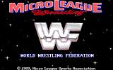MicroLeague Wrestling DOS Title screen