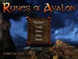 Runes of Avalon iPad Title and main menu