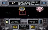CyberGenic Ranger: Secret of the Seventh Planet DOS Asteroid field - use the cannons to destroy them