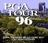 PGA Tour 96 Game Gear Title screen