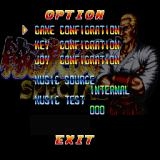 Fatal Fury Special Sharp X68000 Option screen