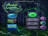 Avalon Legends Solitaire iPad Title and main menu