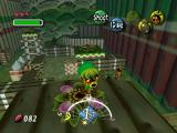 The Legend of Zelda: Majora's Mask Nintendo 64 Deku Link poses for the camera; a tricky platform challenge consisting of floating around the Deku palace awaits