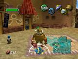 The Legend of Zelda: Majora's Mask Nintendo 64 Goron Link explores the Eastern district of the Clock Town