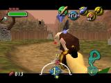The Legend of Zelda: Majora's Mask Nintendo 64 Practicing first-person grappling hook techniques in Ikana graveyard