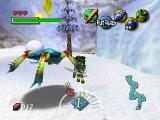 The Legend of Zelda: Majora's Mask Nintendo 64 Fighting colorful giant spiders in the world's Northern regions